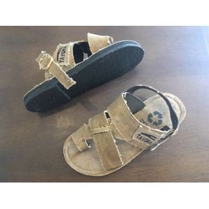 TAYGRA sandals with recicled Truck´s canvas and tyre