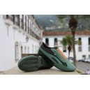 Slim Sneaker United Dark Green with Elastic Band strip