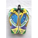 Original Brazil flip flops with yellow strap