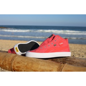 High-Top TAYGRA Red cotton with Banana outsole