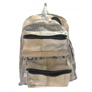 Big backpack with 2 compartments, with truck's cover canvas