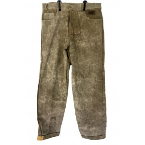 Trouser pants made out of recycled truck´s canvas